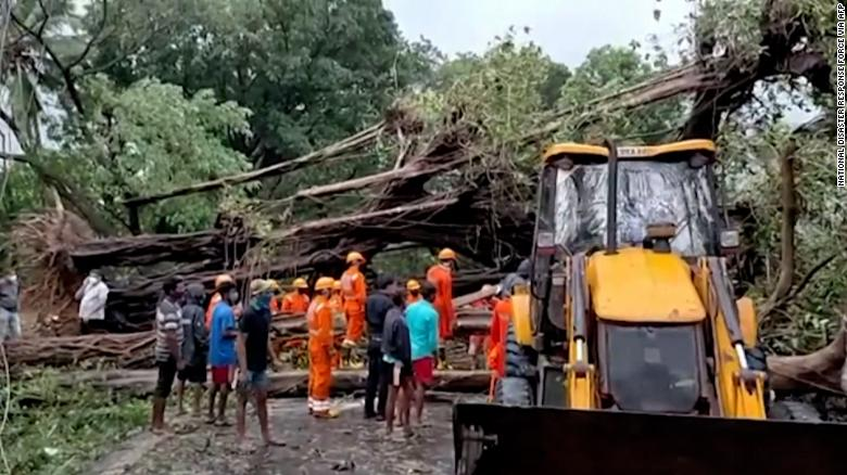 India lashed by strongest cyclone to ever hit west coast as it reels from Covid disaster