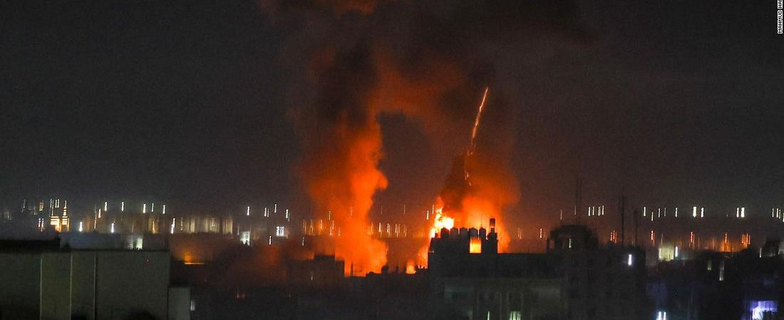 Israeli military launches airstrikes in Gaza in response to incendiary balloons launched from the coastal enclave